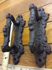 2 Handles Barn Gate Pulls Door Cabinet Rustic cast iron antique style fancy pull