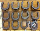 12 Horseshoe Western Handles Pulls Knobs rustic cast iron Drawer Cabinet Horse