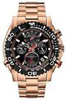 Bulova Men's 98B213 Precisionist Chronograph Rose Gold Black Dial Watch