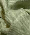 100 Flax Linen Fabric Yarn Dyed 2mm Small Gingham Checkbrown And Light Green
