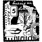 Stampington And Co Wooden Rubber Stamp Ephemera Collage Divine Missives