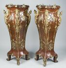 Beautiful Pair of Louis XV Style Mahogany Pedestals HUGE