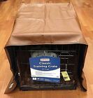NEW Brown Pet Dreams Dog Crate Padding Set w a Cover Bed + Bumper Pad Size S