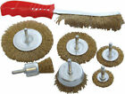 AMTECH 7 PC WIRE BRUSH 4xWire Wheel Brush 1xCupbrush 1xEndbrush 1xHandwire brush