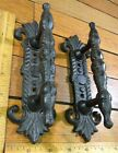 2 Handles Pulls Drawer Door Cabinet Barn Rustic Cast Iron Antique Style 7x2-1/2