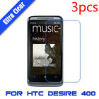3x Ultra Clear HD Touch Screen Protector Film LCD Cover For HTC Desire 400
