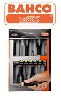 NEW Bahco ERGO 6 Piece Phillips & Slotted Ph,Slot Screwdriver Set BE-9881