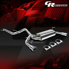35 DUAL SQUARE MUFFLER TIP EXHAUST SYSTEM FOR 07 16 JEEP WRANGLER JK 2 DR 4WD