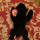 Blackie Bear - Beanie Baby, Rare And Retired German With Errors Beanie Babies