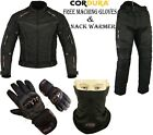 BLACK HAWK MENS WINTER CE MOTORBIKE MOTORCYCLE TEXTILE JACKET TROUSERS SUIT