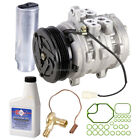 NEW AC COMPRESSOR  CLUTCH WITH COMPLETE A C REPAIR KIT FOR GEO METRO