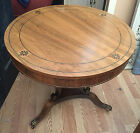 Antique Regency Rosewood Round End Side Coffee Table Center Hand Made Claw Feet
