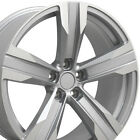 20 Silver Camaro ZL1 Wheels Machined Face 20x8 Fits Chevrolet Set of 4