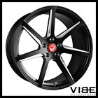 20 VERTINI WING 7 GLOSS BLACK CONCAVE WHEELS RIMS FITS INFINITI G37 SEDAN