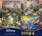 THOMAS KINKADE DISNEY DREAMS COLLECTION MULTI-PACK 4 IN 1 PUZZLE 500 PCS #3667-1