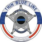 Thin Blue Line Family Support 5 Point Star Reflective Decal