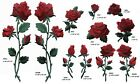 Red Rose Flower Embroidery Iron On Appliqu Patch