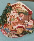 Fitz and Floyd Christmas Santa's Magic Workshop Cookie for Santa Plate