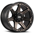 Grid Offroad GD6 20x10 5x1397 25mm Bronze Black Wheels Rims