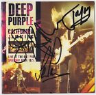 DEEP PURPLE California Jam FULLY SIGNED - Ritchie Blackmore Whitesnake AUTOGRAPH