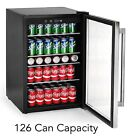 Tramontina 126 Can Beverage Center Stainless Steel Handle Glass Shelves