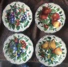 Sakura Sonoma Excell FOUR Fruit 8 1/2'' Salad Plates Grapes, Pear, Plums - MINT