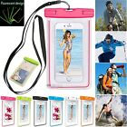 Luminous Glow Pro Waterproof Underwater Pouch Dry Bag Cover Phone Touchscreen