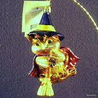 RADKO HALLOWEEN 2 PIECES  WITCH WINGER GLASS ORNAMENTS NWT RARE RETIRED  VALUE
