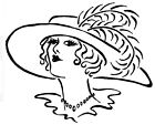 Unmounted Rubber Stamps Art Stamps Victorian Lady Lady with Hat Feathers