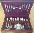 William Rogers Silverware Set with Wooden Case - OVER 100 PIECES INCLUDED!!!