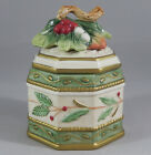 Fitz and Floyd Winter Wonderland Trinket Box Sugar Bowl Candy Dish Christmas