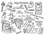 Unmounted Rubber Stamps Sheets Aussie Stamps OZ Australia Christmas Beach