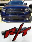 For Dodge Red RT R/T Logo Ram/Charger front Grille Emblem Clip Badge Metal decal