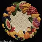 Fitz and Floyd Carioca Canapé Dessert Plate Tropical Fruits 1999 RARE VHTF B