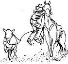 Unmounted Rubber Stamps Western Calf Roping Set Cowboys Cowboy Rodeo Sports