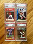 4x Ozzie Smith PSA 8 8.5 9 Graded Card Lot (includes 1993 Finest