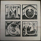 Mounted Rubber Stamps Holiday Christmas Nativity Noel Christmas Card Stamps