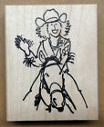 Mounted Rubber Stamps Western Stamps Equestrian Horses Cowgirl Waving