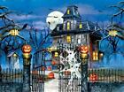 SUNSOUT JIGSAW PUZZLE WELCOME TO OUR HOUSE 1000 PCS HAUNTED HALLOWEEN #52781