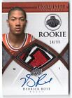 DERRICK ROSE 99 EXQUISITE RPA RC AUTO 3 CLR PATCH 2008-09 ROOKIE JERSEY KNICKS