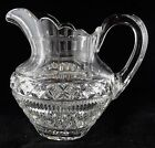 ABP American Brilliant Period Cut Glass Water Pitcher Jug Signed Hawkes