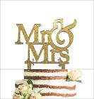Mr and Mrs Sign Bride And Groom Cake Topper Gold Wedding Decorations USA
