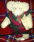 VINTAGE FRENCH PEASANT BEAR TEDDY STUFFED ANIMATED w/LOAVES WIND-UP MUSICAL RARE