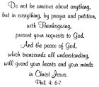 Mounted Rubber Stamp Christian Bible Verse Favorite Bible Verses Phil 46 7