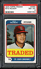 1974 Topps Traded # 348T Pete Richert PSA 8 NM-MT Cards