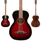 Fender T-Bucket Bass E Acoustic Electric Guitar V3 Transparent Cherry Burst NEW!