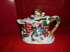 Fitz & Floyd The Flurries Teapot Christmas Snowman