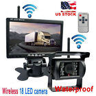 Wireless IR Rear View Back up Camera Night Vision System+7 Monitor for RV Truck