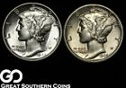 2-Coin Lot, Mercury Dimes, 1944-D and 1945
