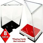 8 Deck Professional Grade Acrylic Discard Holder With No Top